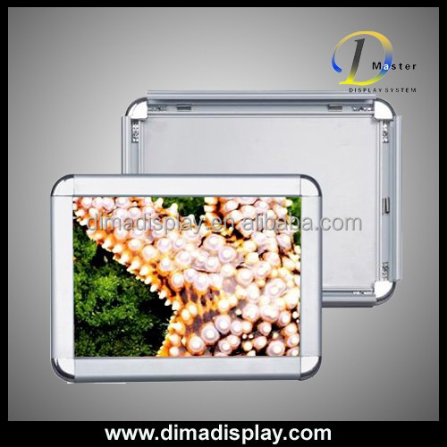 DM waterproof aluminum a1 snap poster frame,poster frame snap