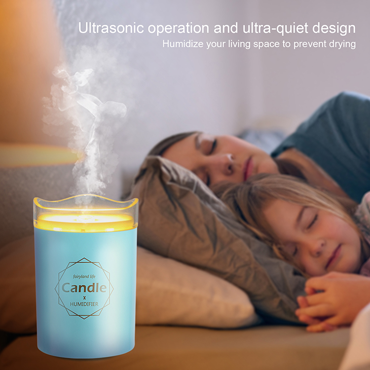Novel usb portable humidifier for home office bedroom LED night light