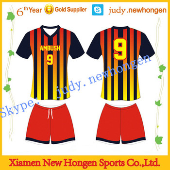 Customized Cheap Your Own Design Soccer Jersey Set Soccer