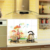 Mushroom Bottle kitchen waterproof and oil proof stickers home decor kitchen wall decals pegatinas de pared