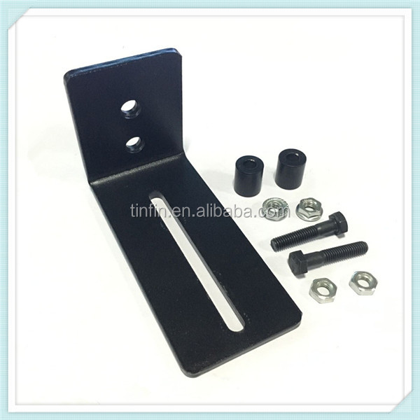 Black floor Guide Stay Roller Adjustable For Barn Door Hardware