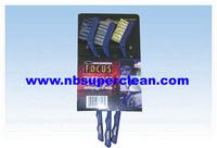 Nylon brass steel mini car brush, auto wheel rust engine cleaning, wheel cleaning brush