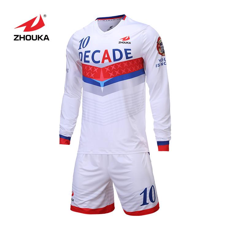 Wholesale Design 100%Polyter Breathable Soccer Wear Football Team Goalkeeper Jersey