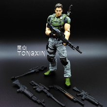 Limited 18cm High Classic Toy Resident Evil 5 chris with Rich accessories action figure Toys