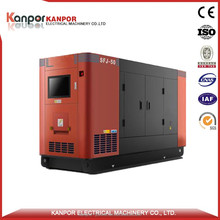 German Engine silent type 55KW 70KVA natural gas generator fuel consumption