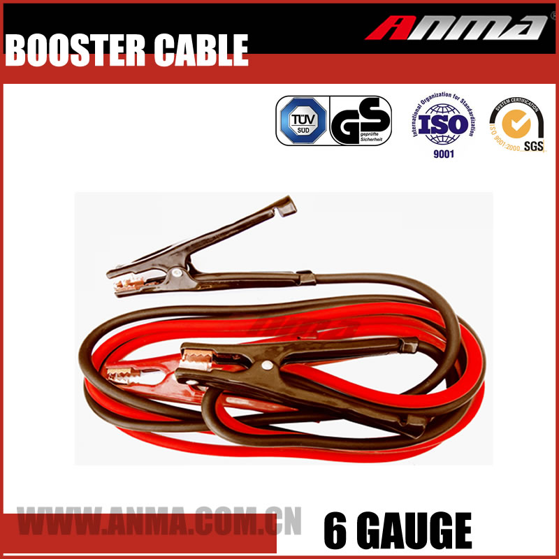6GA 10FT Emergency Car Battery Booster Cable US Market Jumper Starter Cable