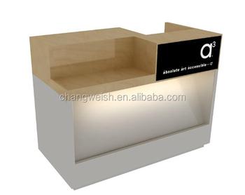 Modern Design Wooden Furniture Cash Register Desk For Sale