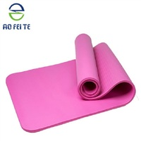 Gym Exercise TPE/PVC/NBR/EVA/rubber selling extra thick 4/6/8mm yoga mat with logo, Non toxic high quality eco-friendly yoga mat
