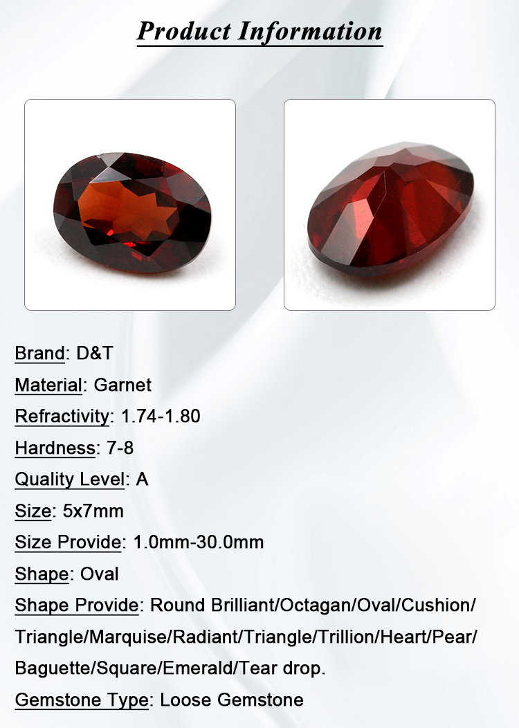 beautiful garnet gemstone for jewelry making oval shape 5x7mm natural yellow garnet