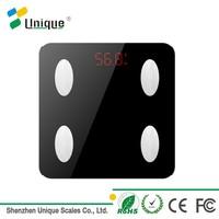 150kg/330lb CE Rohs Fcc Human Care Electronic Bluetooth Digital Fat Body Analyzer Bathroom Scale
