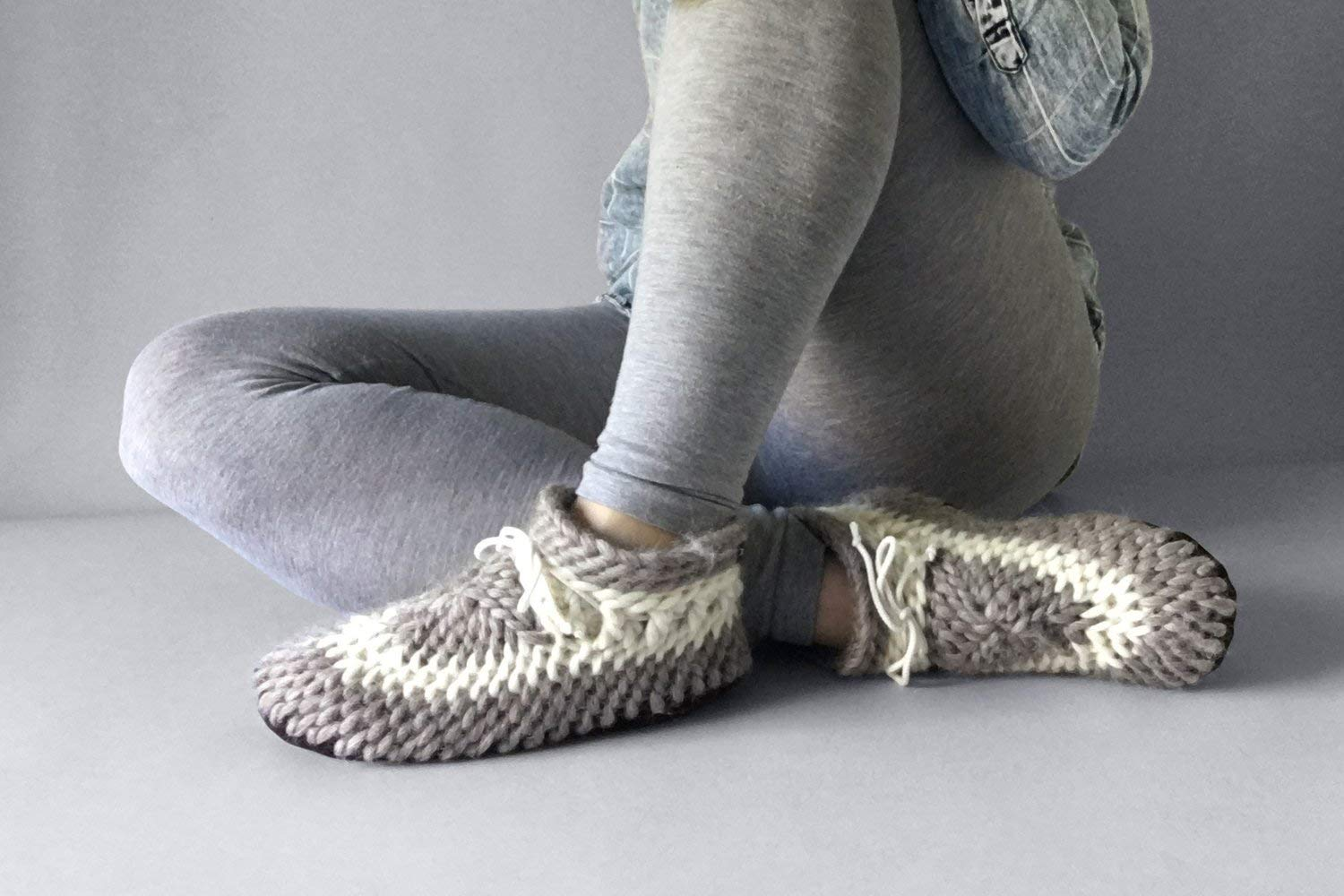 Muffle-Up! Classic Slipper Oatmeal - Womens Slippers, Warm Slippers, Mens Slippers, Knit Slippers, Woolen Slippers, Cozy Slippers, Women House Shoes