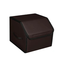 Multipurpose Travel Trunk Leather Car Storage Box Foldable Collapsible Car Boot Organiser Bag