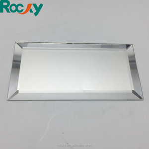 bevelled silver float mirror