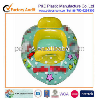 Inflatable baby boat for swimming with colorful printing