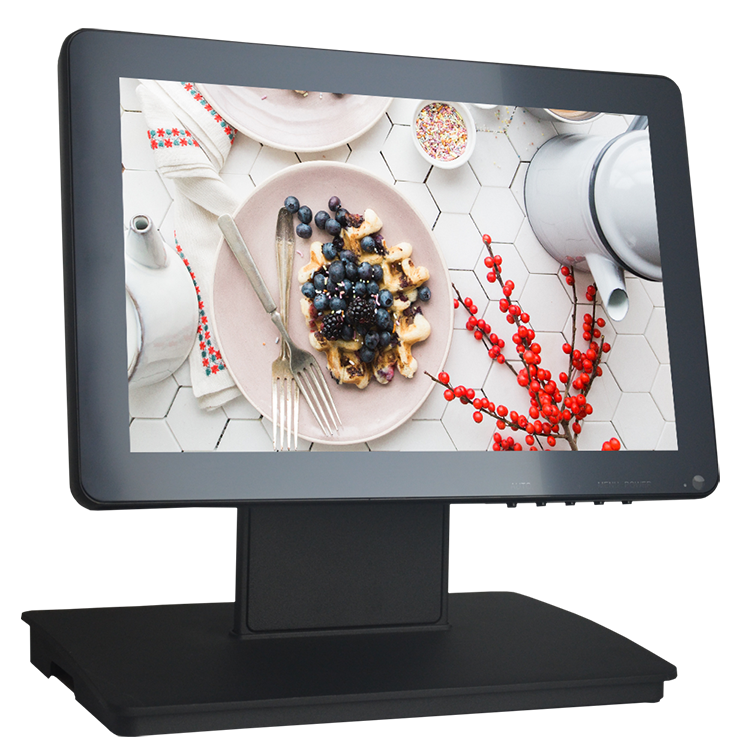 Cheap Ture Flat Capacitive or Resistive Touch Screen LCD Monitor 12.1 Inch with Plastic Shell