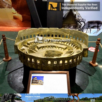 MY Dino-N15 Rome Colosseum-Miniature Historical Figure Replica for decoration