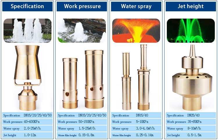 "Rich Project DN25 1"" Stainless Steel Cluster Water Fountain Nozzle Spray Pond Sprinkler Head"