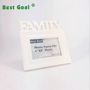 Family 4x6 inches wooden photo frame white picture frame