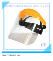 full disposable clear plastic medical PVC visor protection face shield