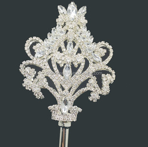 7.5cm wide X 35cm high silver star Plastic scepter bride costume party princess star scepter fairy magic wand