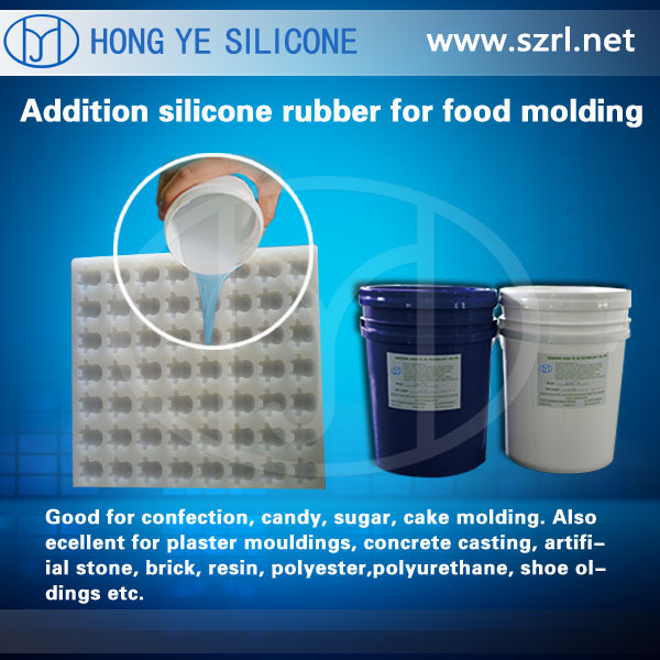 Two Component Silicone for mold making, part A+B silicone rubber no smell