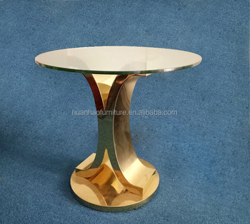 Whole Best Price Gold Metal Clic Round Coffee Side Table St041 Gl Top Tables