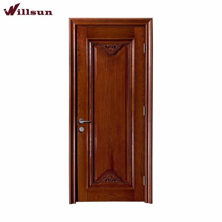 Puerta de entrada de madera de dise o italiano con patr n for Puertas diseno italiano