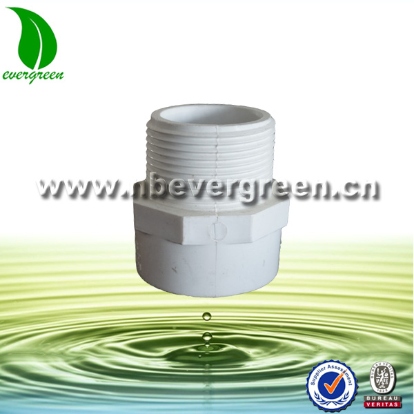 4009 pvc pipe fitting male thread adaptor for water supply