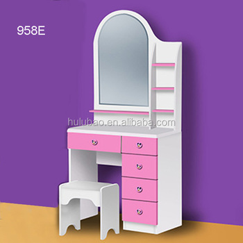Bedroom Dresser / Wood Dressing Table With Mirror /Bedroom Furniture 958E