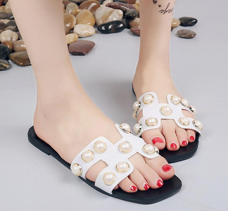 e8955bd1f4e5 SIZE. wholesale cheapest new fashion ladies flat sandals Korean style sweet  Pearl shoes