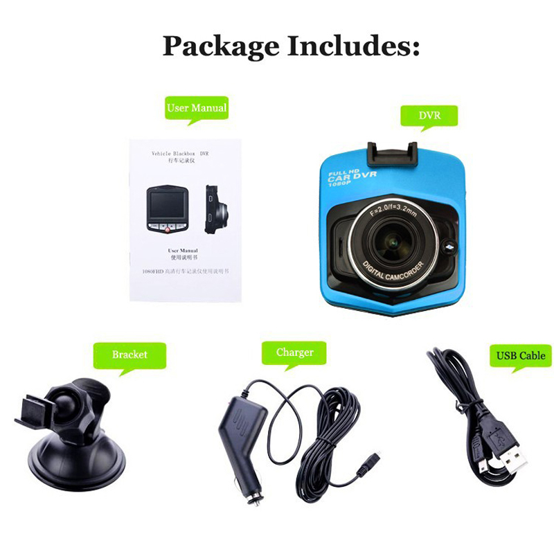Manual Car Camera Hd Mini Gt300 Car Dvr Camera Dvrs Full Hd1080p ...