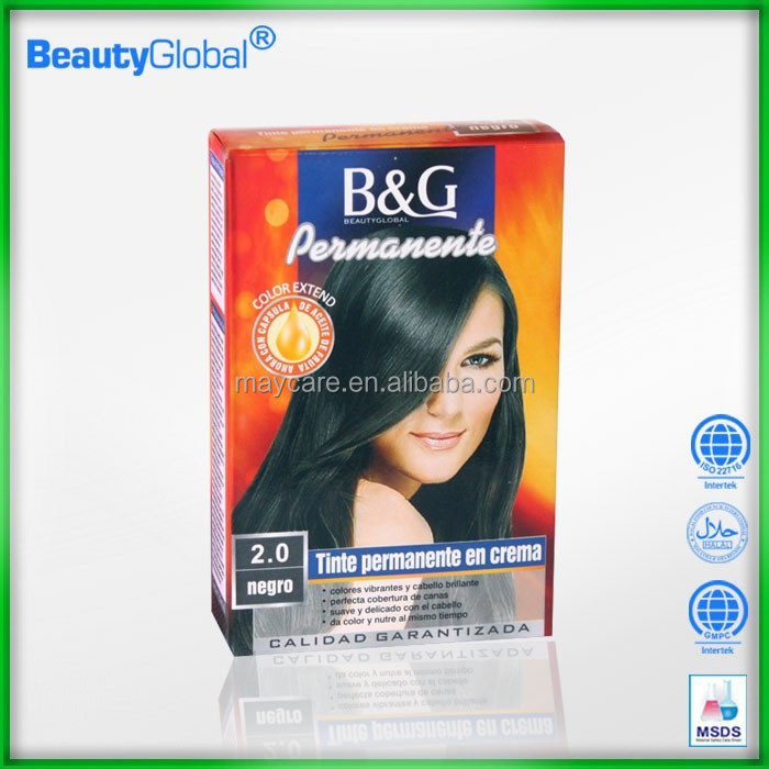 OEM & No PPD free samples natural color straight hair indigo hair dye