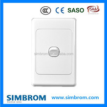 1 gang 2 way Australian standard electrical wall switch,high quality light timer control switch