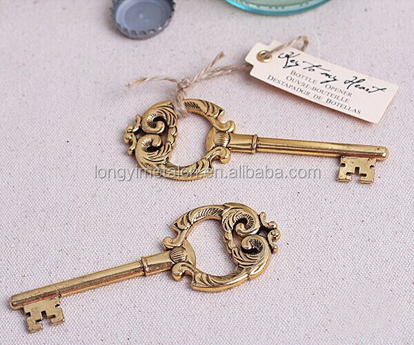 Most Popular Wedding favors key shape metal bottle opener