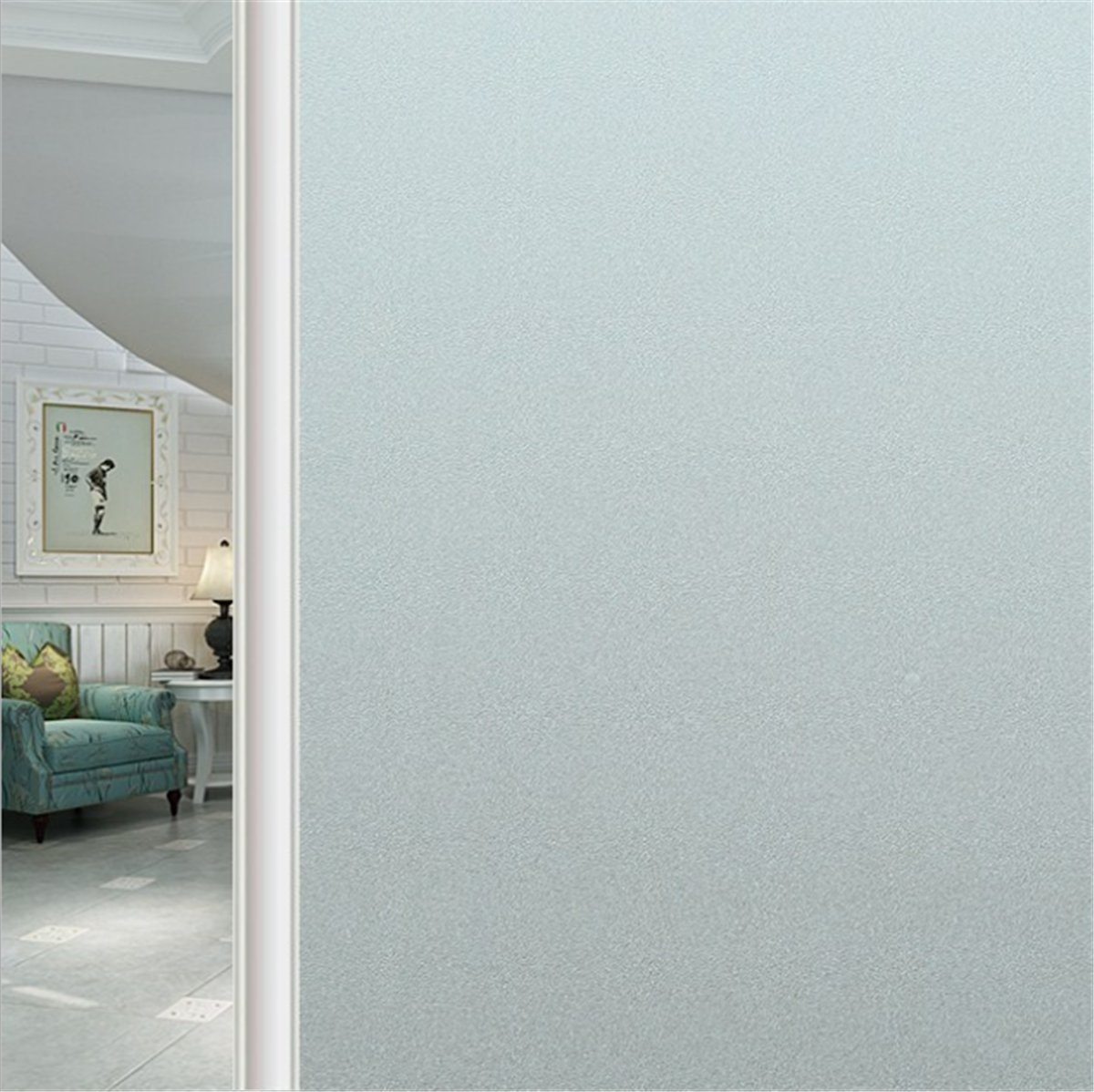 Geo Window Films PVC-FR39078 Frost 39 x 78 Non-Adhesive Window Film