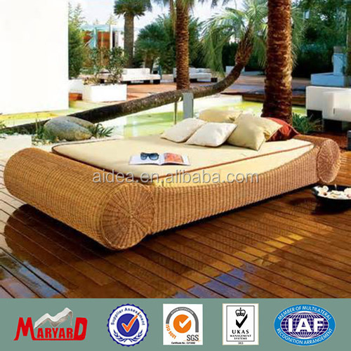 2014 garden furniture fiberglass outdoor sun loungers