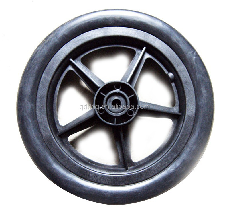 Injection Molded Hard Plastic Wheels Small Foaming Nylon Wheel ...