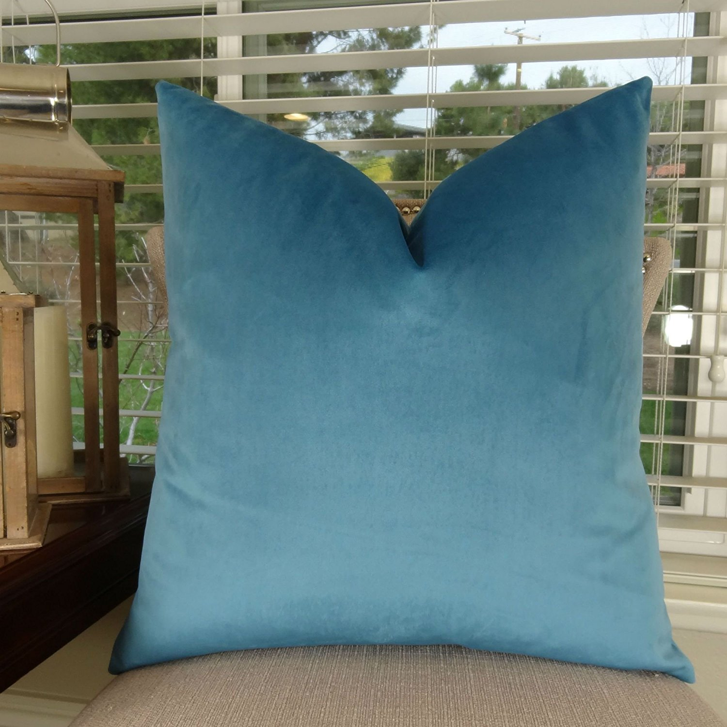 Get Quotations Thomas Collection Luxury Teal Throw Pillow For Couch Pea Blue Sofa Dark Turquoise