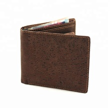High Quality RFID Blocking Cork Wallet Slim Bifold Vegan Coin Purse Eco Friendly Card Holder