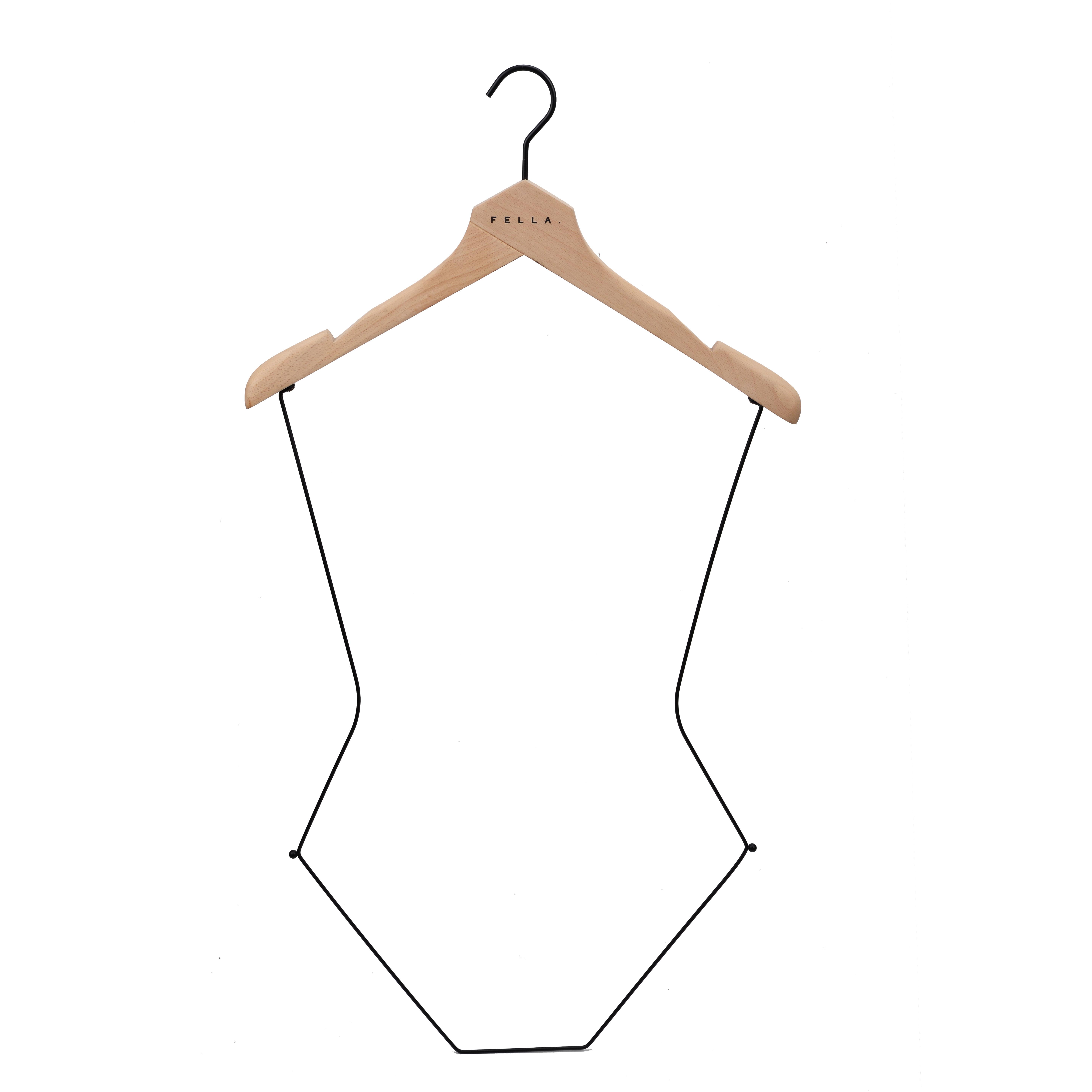 Alibaba.com / Deluxe custom beech wood swimwear body hangers for ladies bikini