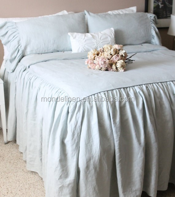 100% linen bedsheet flat sheet duvet cover pillowcase bed cover