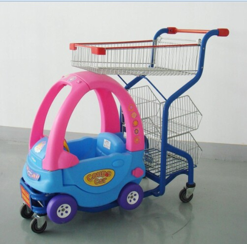 Kids shopping trolley with toy car for sale