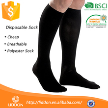 Guangzhou White Long Sock Cover,Wholesale Wellness Flight Try On Bowling Hospital 100% Polyester Disposable Sock