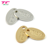 Fashionable Oval Shape Custom Engraved Metal Jewelry Charms Gold Jewelry Tags For Jewelry