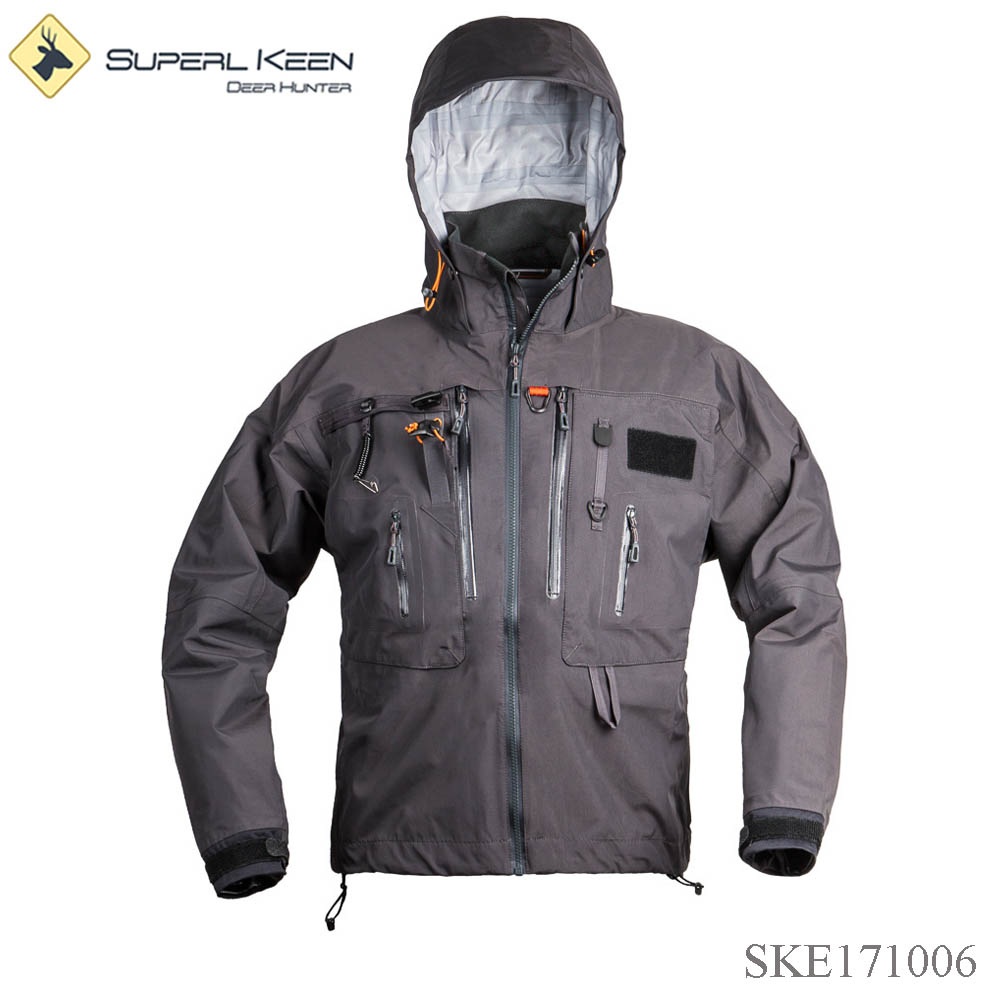 Ultra light wading jacket outdoor waterproof rain jacket