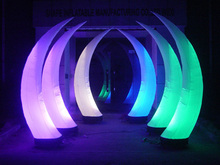 2m tusk inflatable led ivory balloon decoration / self inflating balloons for event decoration