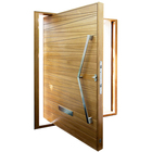 Foshan Revoliving Hinges Modern Designs Exterior House Front Entry Wood Pivot Door