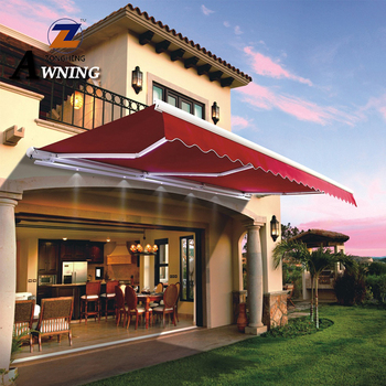awning of hot sale high quality modern cheap remote control outdoor shading retractable aluminum awnings