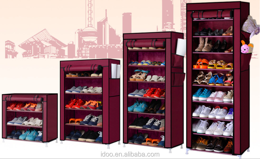 Steel Covered Fabric Shoe Rack Diy Room Racks With Cover Fh Fc6007