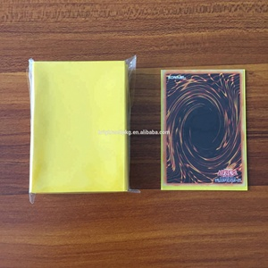 Yellow Matte Eclipse Black Small Mini Deck Protector Card Sleeves